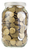 Coins liter jar Stock Photography