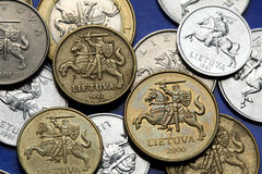 Coins of Lithuania Stock Photography