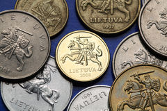 Coins of Lithuania Royalty Free Stock Image