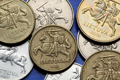 Coins of Lithuania Royalty Free Stock Images