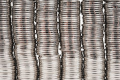Coins. Lots of money - coin detail Royalty Free Stock Photos