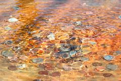 Coins Lying In A Fountain Royalty Free Stock Photo