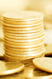 Coins macro close up Royalty Free Stock Photos