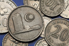 Coins of Malaysia Royalty Free Stock Photos