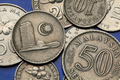 Coins of Malaysia Royalty Free Stock Photo