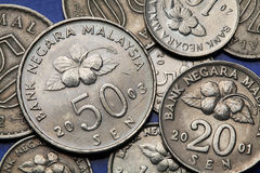 Coins of Malaysia Stock Images