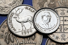 coins mauritius Royaltyfria Foton