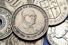 coins mauritius Arkivfoto