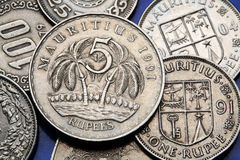 Coins of Mauritius Stock Photo