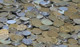 Coins Money. Heaped -up Estonian coins 10 20 50 Royalty Free Stock Photos