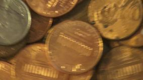Coins, Money, Currency stock video footage