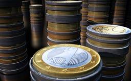 Coins, Money, Euro, Business, Trade Stock Photo