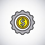 Coins money growth icon Royalty Free Stock Photo