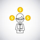 Coins money growth icon Stock Images