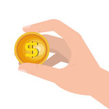 Coins money pay icon Royalty Free Stock Photography