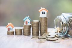 Coins money setting growth up increase to house model for concept investment mortgage finance and home loan business, business,. Innovation, growth and money stock photos