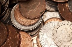 Coins, Money, Uk Money Royalty Free Stock Images
