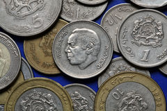 Coins of Morocco Royalty Free Stock Images