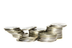 coins näven Royaltyfria Bilder