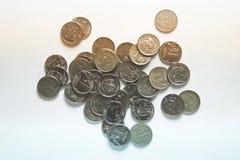coins näven Fotografering för Bildbyråer