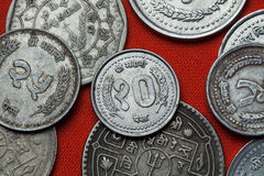 Coins of Nepal stock images