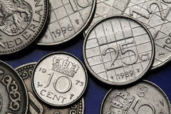 Coins of the Netherlands Stock Images