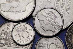 Coins of the Netherlands Stock Photography