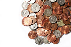 Coins, nickels and dimes. Financial,savings,economics concept - various coins, nickels, dimes stock photo