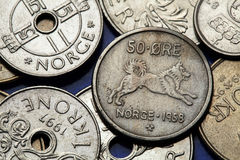 Coins of Norway Stock Image