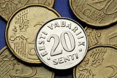 Free Coins Of Estonia Royalty Free Stock Photos - 45350978