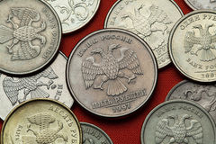Free Coins Of Russia. Russian Double-headed Eagle Royalty Free Stock Photography - 75950487