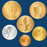 coins olik metall background card congratulation invitation vektor vektor illustrationer