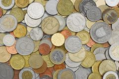 coins olikt Royaltyfri Fotografi