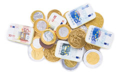 Coins of one euro, Stock Images