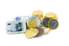Coins of one euro, Stock Photography