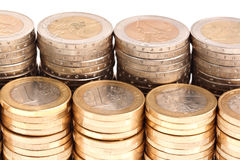Free Coins Organized In Columns And Rows, Detailed View Royalty Free Stock Images - 14861819
