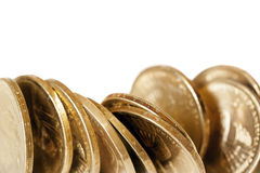 Coins over White Royalty Free Stock Photo