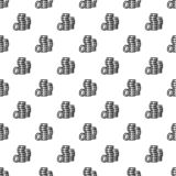 Coins pattern seamless royalty free illustration