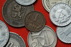 Coins of the People's Republic of Bulgaria Royalty Free Stock Image