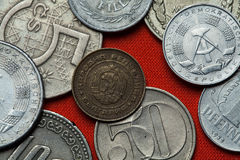 Coins of the People's Republic of Bulgaria Stock Photo