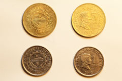 Coins of Philippines Peso Royalty Free Stock Photos