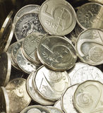 Coins pile Stock Photography