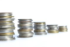 Coins Pile Royalty Free Stock Photography