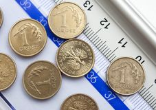 Coins of polish currency zloty Stock Image