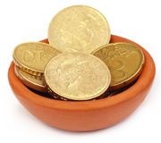 Coins in a pottary