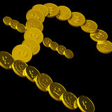 Coins Pound Symbol Showing British Budget Royalty Free Stock Photo