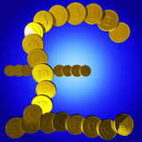 Coins Pound Symbol Shows British Deposit Stock Photography