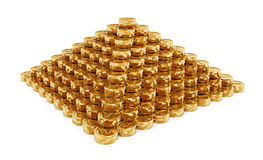 Coins Pyramid Stock Image