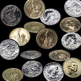 Coins rain Royalty Free Stock Images