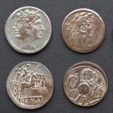 coins roman arkivbilder